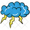 Thunder Cloud Cloudy Weather Icon