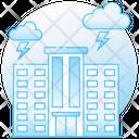 Lighting Shower Thunderstorm Cloud Lightning Icon
