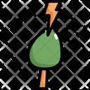 Thunder Tree Storm Icon