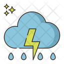 Thunderstorm Lightning Cloud Strom Icon