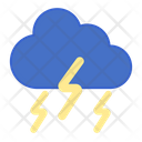 Thunderstorm Ightning Cloud Strom Icon