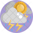 Lightning Sun Cloud Icon
