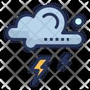 Thunderstorm Lightning Cloud Icon
