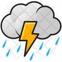 Thunderstorm Rain Strom Rain Icon