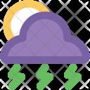 Thunderstorm Weather Raining Icon
