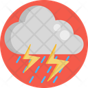 Lightning Thunder Cloud Icon