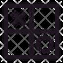 Tic Tac Toe X O Square Icon
