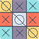 Tic Tac Toe Competition Crisis Cross Icon