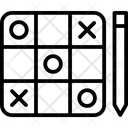 Tic Tac Toe Noughts And Crosses Paper Pencil Game Icon