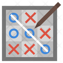 Tic Tac Toe Gaming Crosses Icon