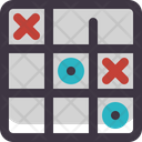 Tic Tac Toe Strategy Toy Icon