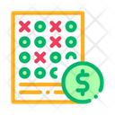 Bet Sheet Betting Icon