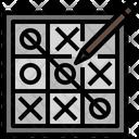 Tic Toc Toe Board Tic Tac Toe Crosses Icon