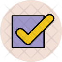 Tick Mark Approved Icon