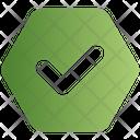 Sign Hexagon Tick Icon