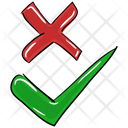 Tick And Cross Checkmarks Cross Icon
