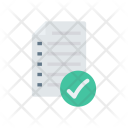 Tick Document Paper Icon