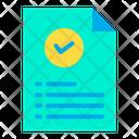 Tick File Icon