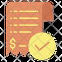 Tick Mark Bill Checked Bill Checked Invoice Icon
