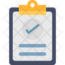 Tick On Sheet Approved Action Plan Icon