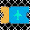 Flight Ticket Flight Pass Boarding Pass Icon