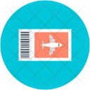 Ticket Airplane Travel Icon