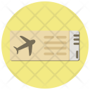 Plane Ticket Flight Icon