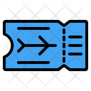 Ticket Boarding Pass Traveling Icon