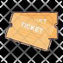 Ticket Movie Riffle Icon