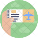 Airport Flight Ticket Airplane Icon