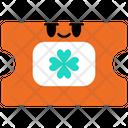 Ticket Saint Patrick St Patricks Day Icon