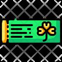 Ticket Pass Saint Patrick Icon