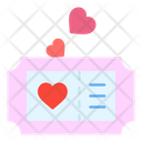 Ticket Pass Heart Icon