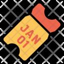 01 January Receipt Celebration Icon