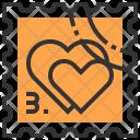 Ticket Heart Love Icon