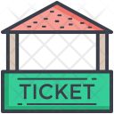 Ticket Booth Carnival Icon