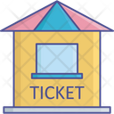 Carnival Ticket Booth Ticket Stall Icon