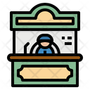 Office Ticket Commerce Icon