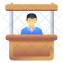 Ticket Booth Ticket Counter Counter Desk Icon