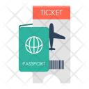 Ticket Passport Visa Icon