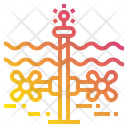Tidal Energy Power Icon