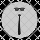 Tie Glasses Dress Icon