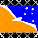 Flag Country Tierra Del Fuego Province Argentina Icon