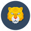 Tiger Animal Creature Icon