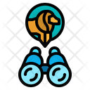 Binocular Tiger Safari Icon