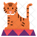 Tiger Show Circus Wild Animal Carnival Icon