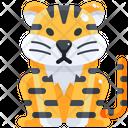 Tiger Predator Carnivore Icon
