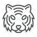 Tiger Danger Face Icon