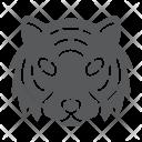 Tiger Danger Face Icon