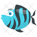 Tiger Barb Stripes Tropical Icon